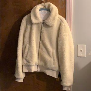 Gap Jackets Coats Teddy Bomber Jacket In Cream Poshmark